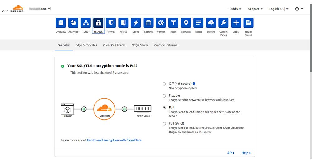 Configure the basic cloudflare settings.