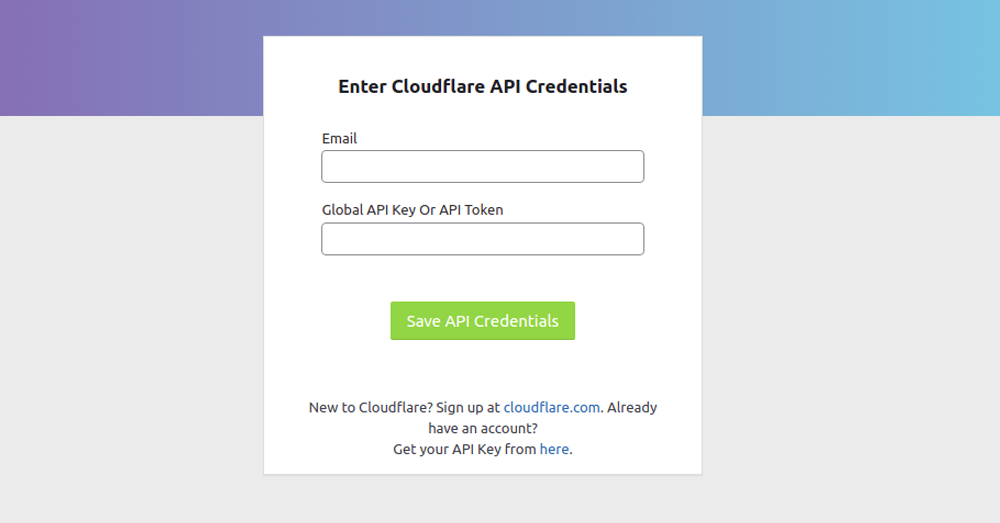 Connect to your Cloudflare account