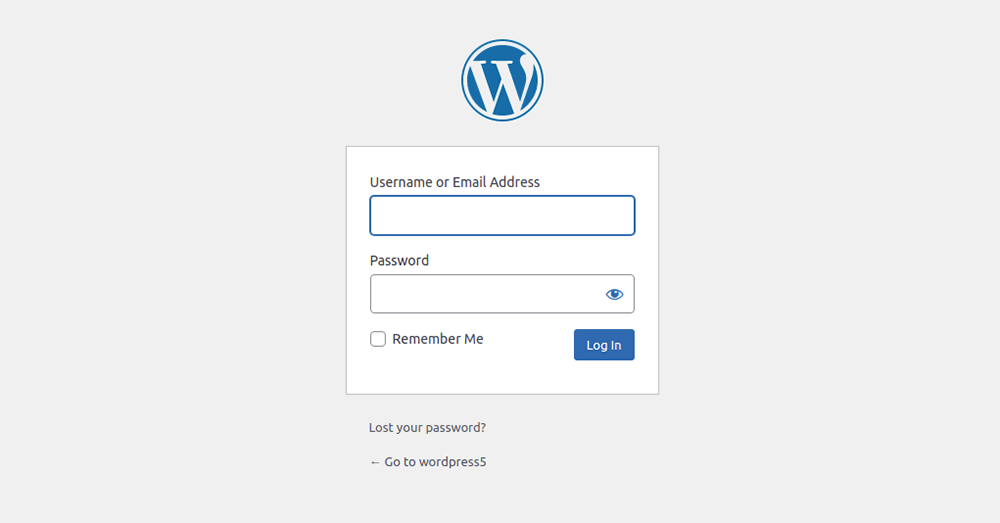 Log in to your WordPress admin page
